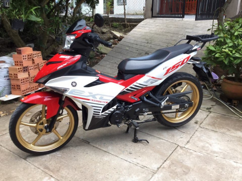Exciter 150 do don gian cung biker mien tay .
