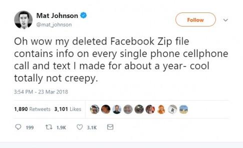 Facebook bi phat hien ghi lai lich su cuoc goi va tin nhan cua nguoi dung trong nhieu nam qua