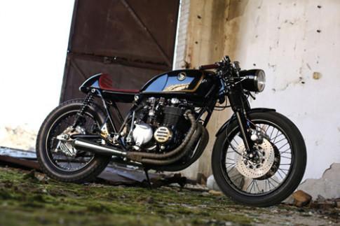 Honda CB550 cafe racer bi hiem
