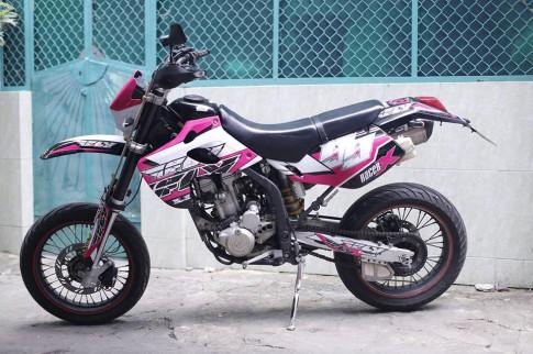 Kawasaki KLX 250 do po Akrapovic, binh FCR 35 Racing va nhieu mon hay hay