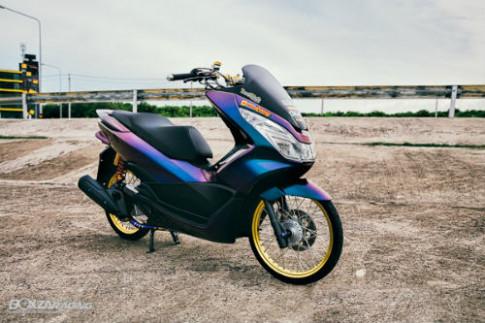 """Ngam Honda PCX 150 do vang sieu dat cua """"dan choi"""""""
