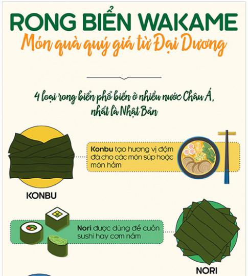 Rong bien Wakame - Mon qua quy gia tu dai duong