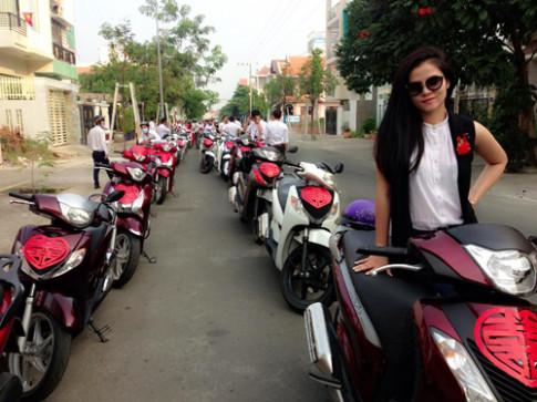 Ruoc dau bang dan Honda SH tai Binh Duong