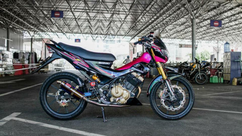 Satria F150 do cuc dep cung voi dan do choi chat