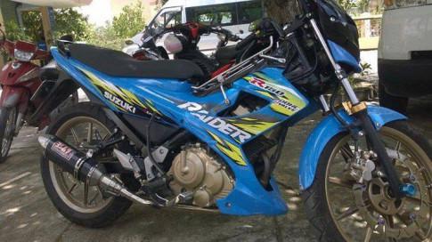 Suzuki Raider 150 do phong cach quai vat