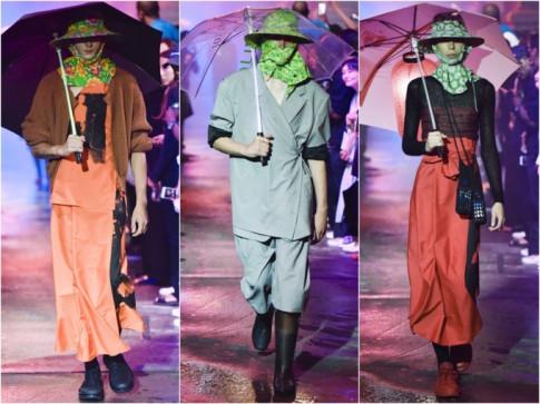 Cả thế giới ra mà xem: Style mũ chống nắng của 'ninja Việt' đã lên sàn diễn thời trang quốc tế Xuân - Hè 2018
