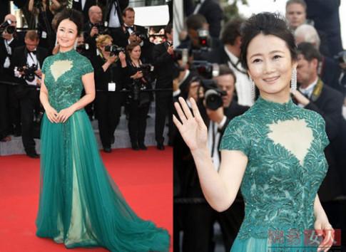 Nhan sắc Sao Hoa ngữ gây thất vọng trên thảm đỏ Cannes