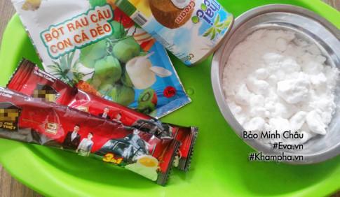 Cách làm bánh trung thu thạch rau câu vị cà phê, cốt dừa