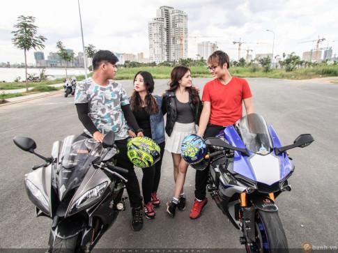 Couple trai tài gái sắc tạo dáng cùng cặp đôi R6 - R1 của nhà Yamaha