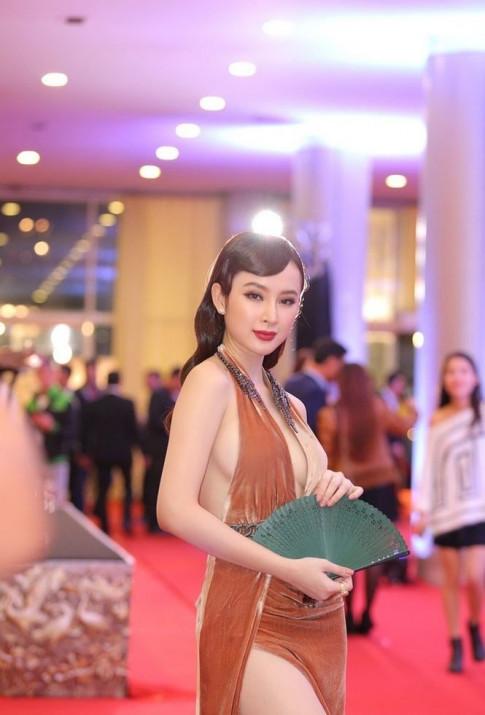Angela Phuong Trinh cong pha showbiz bang gu thoi trang khoe 'sieu vong 3' nhieu den phat ngan