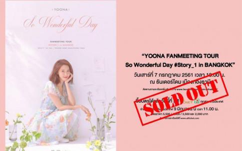 Yoona (SNSD) xac lap ky luc moi, ban sach ve fanmeeting tai Thai Lan chi trong vai giay