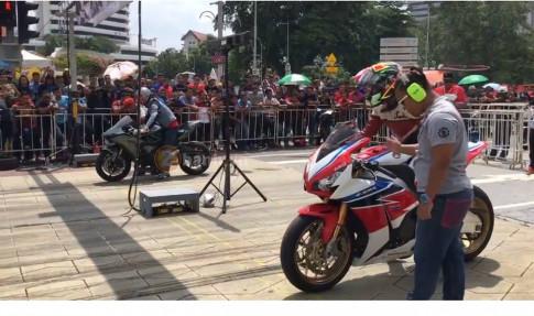 [Clip] Drag race duong pho quy tu toan moto khung