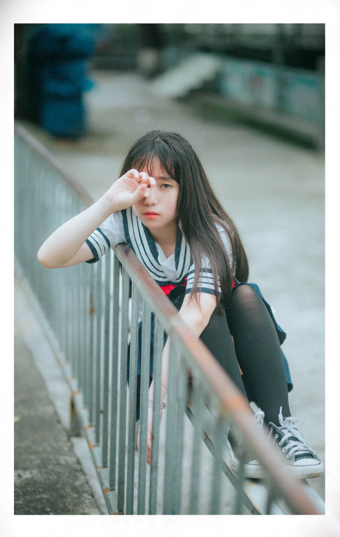 """Co nang hot teen 13 tuoi xinh nhu thien than, """"ngam la me"""" o Hai Phong"""