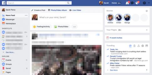Facebook thu nghiem tinh nang Stories tren giao dien may tinh
