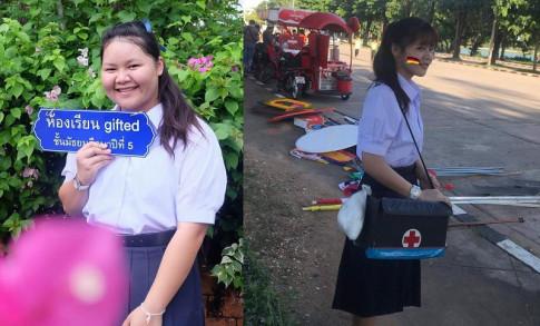 Man 'lot xac' tu nang beo 100kg den than hinh chuan hotgirl cua nu sinh Thai Lan