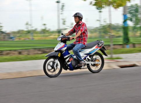 Suzuki Satria 120R do hang hieu cua chang trai Viet