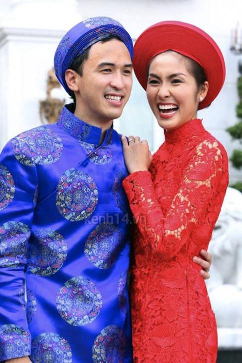 Soi áo dài cưới tinh xảo tuyệt đẹp của sao Việt