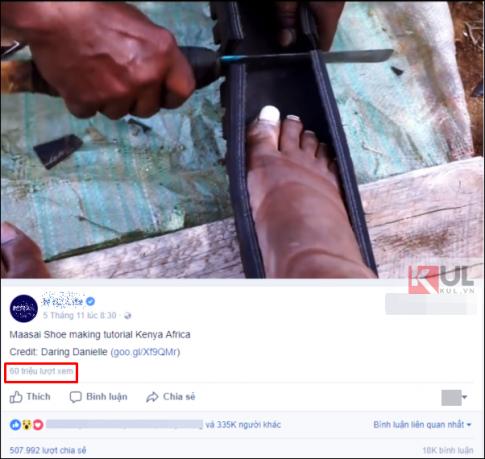 Clip: Làm dép cao su đúng chuẩn 'đo ni đóng giày' từ vỏ xe thu hút hơn 60 triệu lượt xem