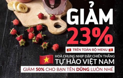 Con bao mang ten 'Quang Hai', 'Tien Dung': Hang loat cua hang giam gia mung chien thang U23 Viet Nam