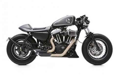 Hinh anh xe do Harley Davidson 48 cafe racer