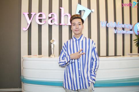 "Hotface Pham Duc Anh rang ro den nhan giai quan quan ""Yeah1 Got Talent 2018""."