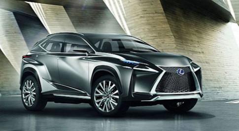 Lexus trinh lang LF-NX crossover concept