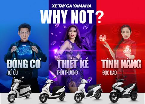 """Pham Huong, Chi Pu, Isaac gop mat cung chien dich """" Xe tay ga Yamaha – Why not?"""""""