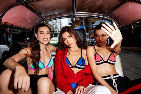 Truoc ngay len duong thi Hoa hau, Minh Tu gay bat ngo mac bikini di cho tai Thai Lan cung thi sinh Asia's Next Top Model