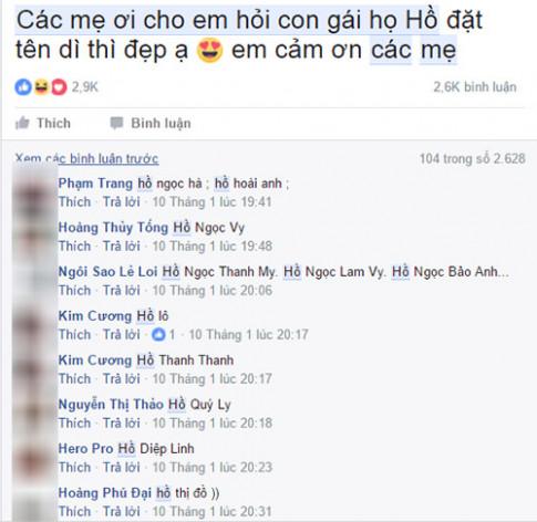 """Ba me len mang nho dat ten cho """"con gai ho Ho"""" va cai ket """"cuoi khong ngam mieng"""""""
