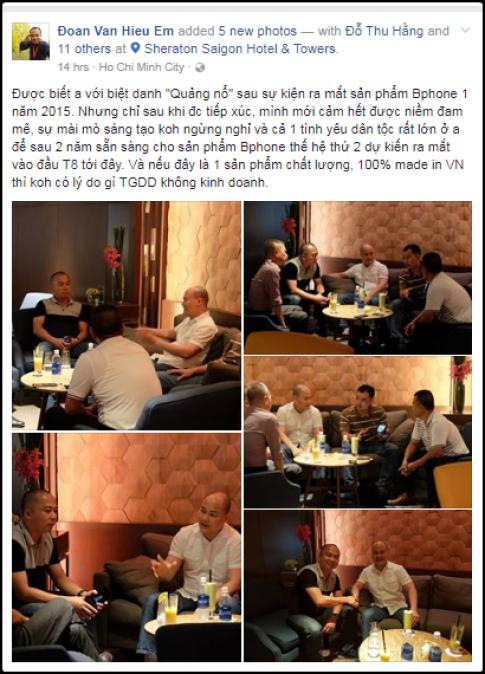 CEO Bkav va The Gioi Di Dong gap nhau tai Sheraton Saigon, xuat hien luon ca Bphone 2
