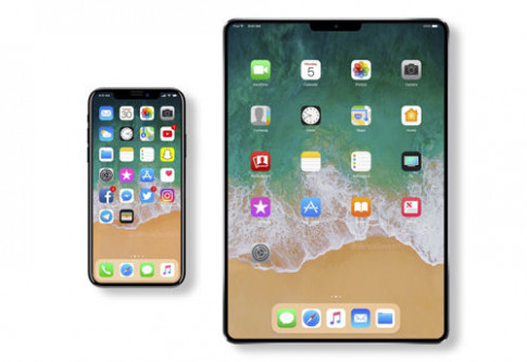 iPad 2018 se giong het iPhone X voi man hinh tran canh, bo luon nut home