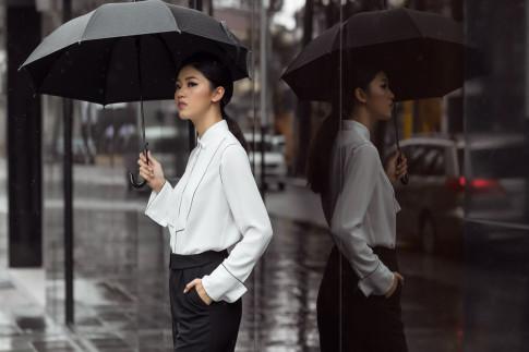 Ru bo hinh anh 'banh beo', A hau Thanh Tu cuc chat voi menswear style