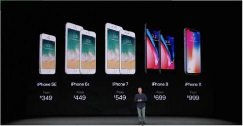 """Chién luọc quảng bá iphone X """"khong càn tièn"""" của Apple"""