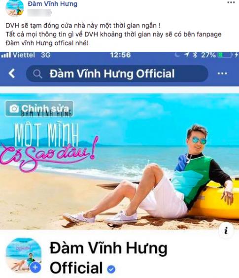 Dam Vinh Hung bat ngo tuyen bo ngung su dung Facebook