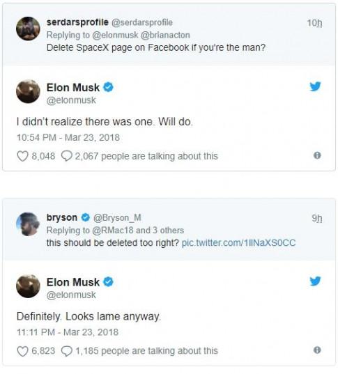 Elon Musk 'troll' Facebook bang cach xoa so 3 fanpage vai trieu luot xem cua minh
