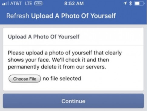 Facebook khóa tài khoản, đòi người dùng upload ảnh selfie nếu muốn tiếp tục sử dụng