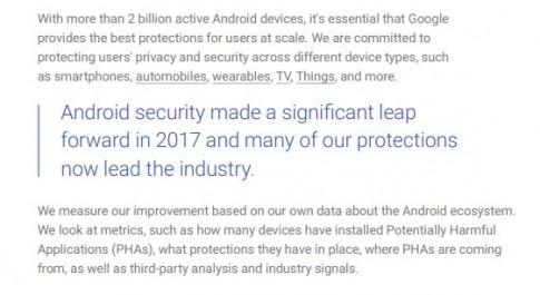 Google: Android giờ đây đã an toàn 'bằng với đối thủ'