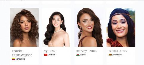 Hoa hậu Trần Tiểu Vy xuất hiện lung linh trên trang chủ chính thức của Hoa hậu Thế giới 2018