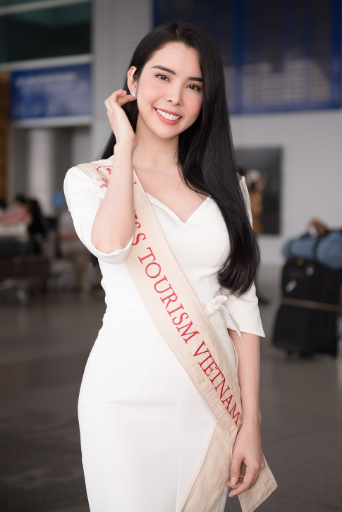 """Nguoi tinh cua Isaac"" - Lien Binh Phat tien nguoi dep Huynh Vy len duong tham du Miss Tourism Queen Worldwide 2018"