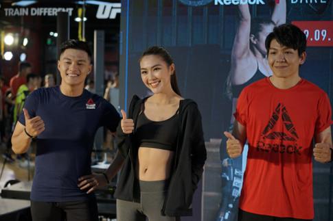 Tuong Linh, Lam Vinh Hai va Kelvin Khanh quay het minh trong su kien the thao cung gioi tre Sai Gon