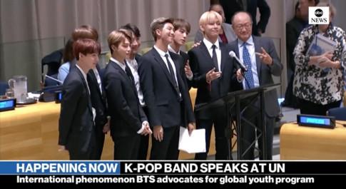 BTS trở thành nhóm nhạc K-pop đầu tiên phát biểu trực tiếp tại Liên hợp quốc