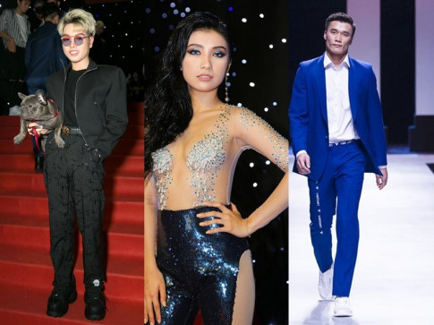 Hot girl Bao My sanh doi cung rapper Khoi Nguyen trong Tuan le thoi trang 2018