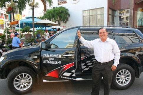 Caravan lai thu xe Mitsubishi tai mien Trung