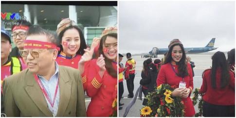 Chan dung hot girl Tran Phu cuc xinh dep don U23 Viet Nam o san bay