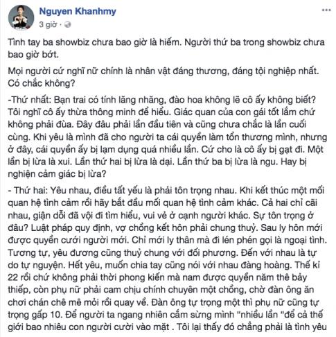 Chang noi loi nao truoc on ao tinh cam cua ban trai, Nha Phuong cungbi chi trich: 'Lan thu ba bi lua la ngu'