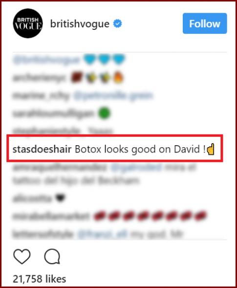 Fan 'nhay' vi bat ngo duoc David Beckham 'dap tra' nghi an tiem botox