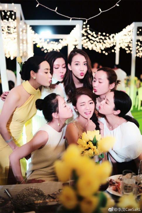 Hội phù dâu sang chảnh bậc nhất trong các đám cưới 'thế kỉ' của sao Hoa ngữ