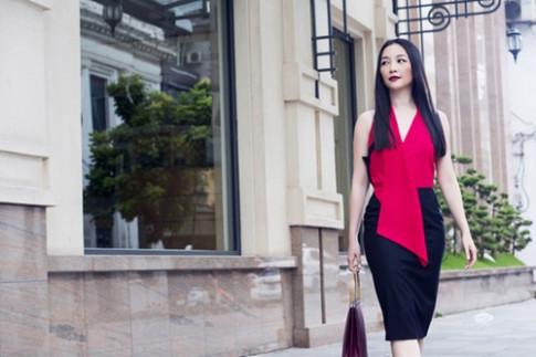 Linh Nga mac dep sang chanh xuong pho