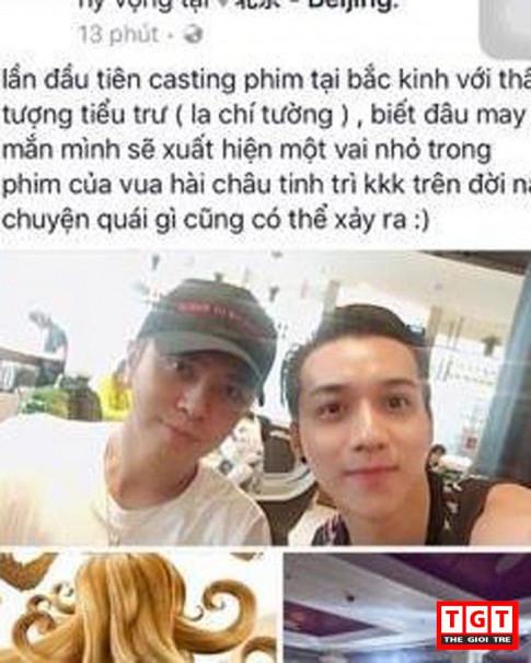 My nam Cuong Jipi than thiet voi La Chi Tuong o casting phim tai Bac Kinh