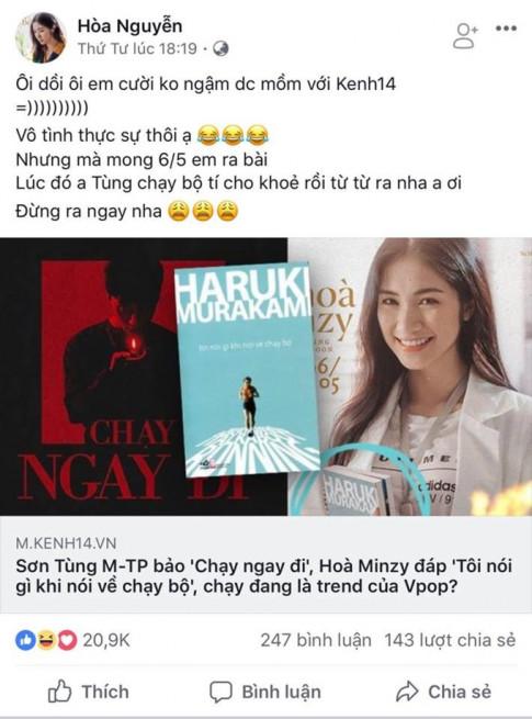 Son Tung van tung sieu pham, mac Hoa Minzy da khan thiet cau mong ra MV cham thoi de chua Hoa duong song